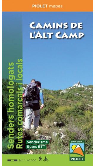 Map Camins de l'Alt Camp. Senders...
