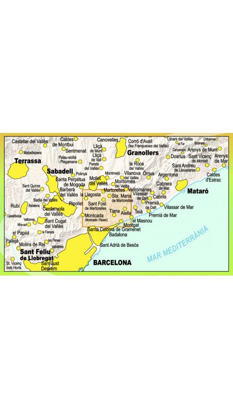 Mapa Parc de la Serralada de Marina. Senderisme en transport públic 1:20.000 1a ed