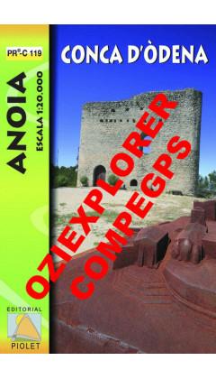Conca d'Òdena. Anoia. PRC-119. Digital CompeGps/Oziexplorer 1:20.000 1a ed