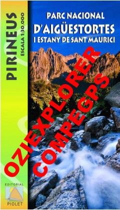 Parc Nacional d'Aigüestortes i Estany de Sant Maurici. Pirineus. Digital CompeGps/Oziexplorer 1:30.000 1a ed