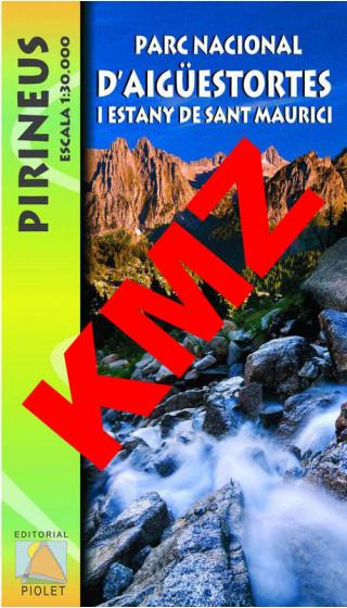 Parc Nacional d'Aigüestortes i Estany de Sant Maurici. Pirineus. Digital Kmz (Garmin, Google Earth) 1:30.000 1a ed