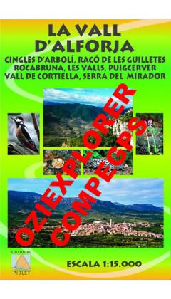 La Vall d'Alforja. Cingles d'Arbolí, Racó de les Guilletes ... Digital CompeGps/Oziexplorer 1:15.000 1a ed