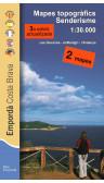Mapa Empordà  senderisme. Costa Brava. Les Gavarres, El Montgrí, L'Ardenya 1:30.000 3a ed