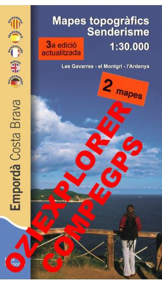 Empordà senderisme. Costa Brava. Les Gavarres, El Montgrí, L'Ardenya. Digital CompeGps/Oziexplorer1:30.000 3a ed