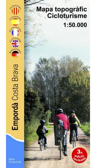 Empordà cicloturisme. Costa Brava. Mapa topogràfic cicloturisme 1:50.000 3a ed