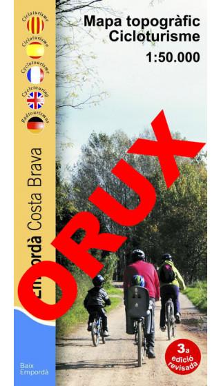 Empordà cicloturisme. Costa Brava. Mapa topogràfic cicloturisme. Digital OruxMaps 1:50.000 3a ed