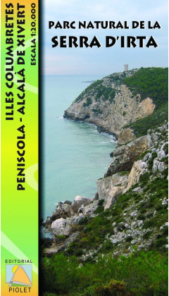 Mapa Parc Natural de la Serra d'Irta. Illes Columbretes. Peníscola, Alcalà de Xivert 1:20.000 1a ed