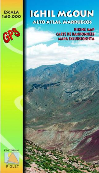 Mapa Ighil Mgoun. Alto Atlas. Marruecos 1:60.000 1a ed