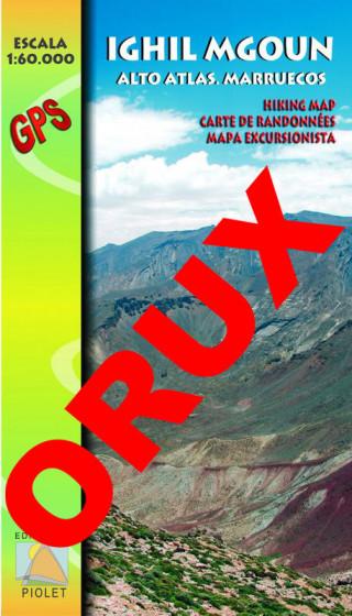 Ighil Mgoun. Alto Atlas. Marruecos. Digital OruxMaps 1:60.000 1a ed