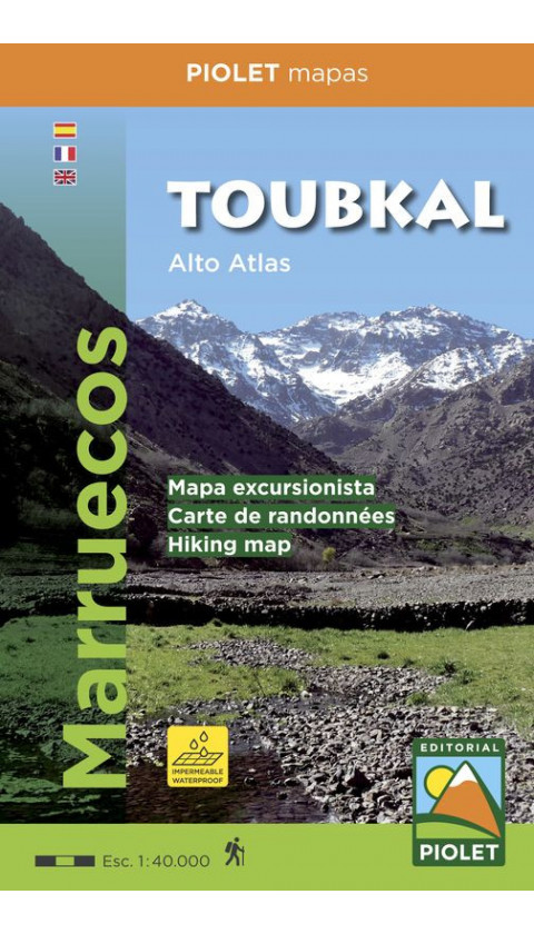 Mapa Toubkal. Alto Atlas. Marruecos 1:40.000 5a ed 2017 (Papel impermeable, waterproof)