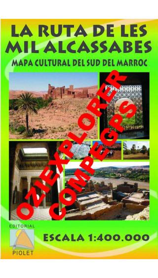 La Route des Mille Casbahs. Carta Culturelle du Sud de Marroc. Française. Digital CompeGps/Oziexplorer 1:400.000 2è éd