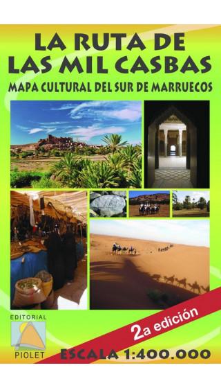 Mapa La Ruta de las Mil Casbas. Mapa Cultural del Sur de Marruecos. Castellano 1:400.000 2a ed