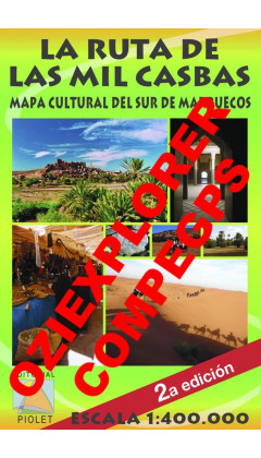 La Ruta de las Mil Casbas. Mapa Cultural del Sur de Marruecos. Castellano. Digital CompeGps/Oziexplorer 1:400.000 2a ed