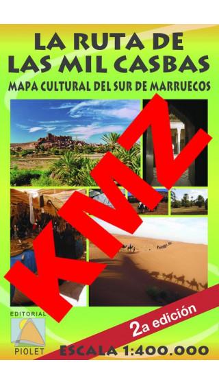 La Ruta de las Mil Casbas. Mapa Cultural del Sur de Marruecos. Castellano. Digital Kmz (Garmin, Google Earth) 1:400.000 2a ed