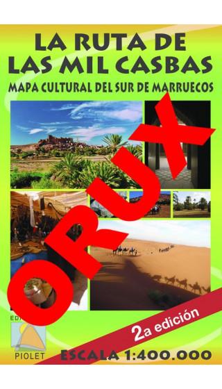 La Ruta de las Mil Casbas. Mapa Cultural del Sur de Marruecos. Castellano. Digital OruxMaps 1:400.000 2a ed