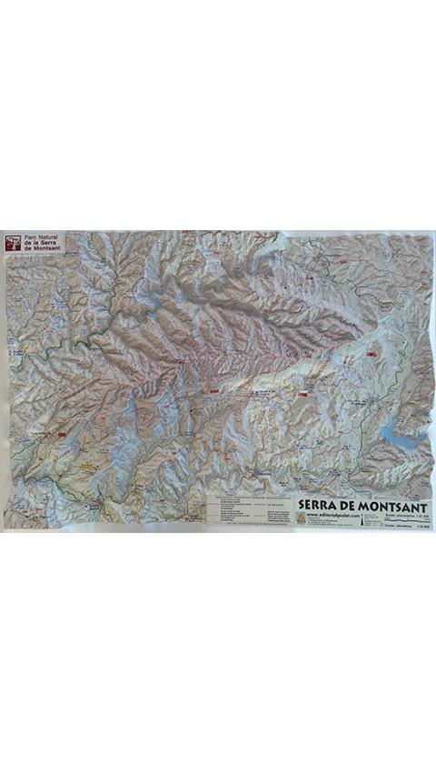 Mapa Serra de Montsant. Mapa en relieve 1:40.000 1a ed