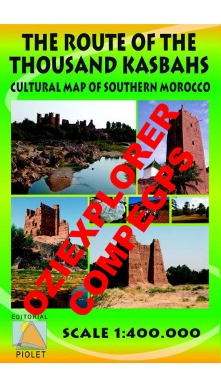 The Route of the Tousand Kasbahs. Cultural Map of Southern Morocco. English. Digital CompeGps/Oziexplorer 1:400.000 First ed
