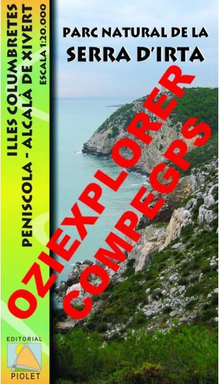 Parc Natural de la Serra d'Irta. Illes Columbretes. Peníscola, Alcalà de Xivert. Digital CompeGps/Oziexplorer 1:20.000 1a ed