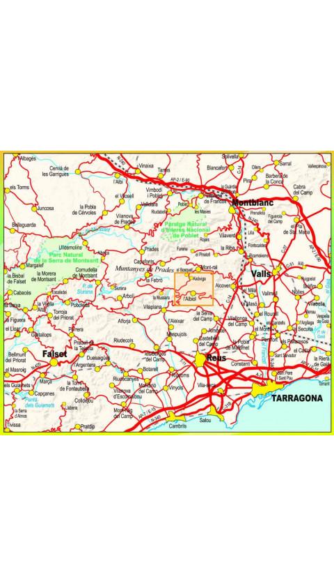 Caminant per l'Albiol. Muntanyes de Prades Sud. Digital CompeGps/Oziexplorer 1:15.000 1a ed