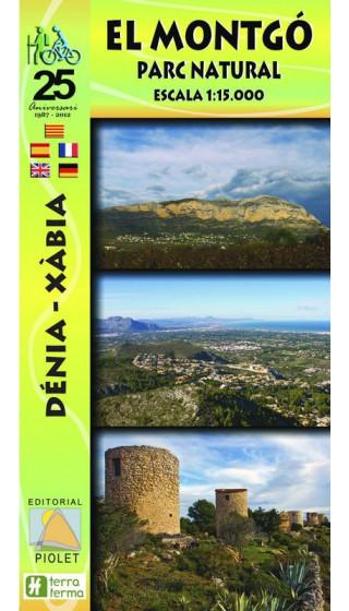 Mapa El Montgó. Parc Natural. Dénia-Xàbia 1:15.000 1a ed