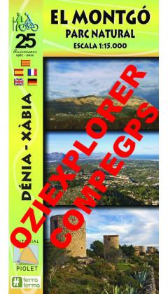 El Montgó. Parc Natural. Dénia-Xàbia. Digital CompeGps/Oziexplorer 1:15.000 1a ed