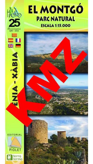 El Montgó. Parc Natural. Dénia-Xàbia. Digital Kmz (Garmin, Google Earth) 1:15.000 1a ed