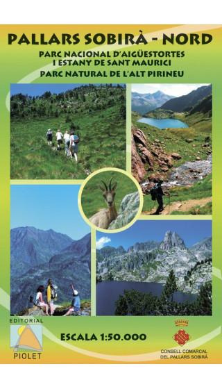 Mapa Pallars Sobirà Nord. Parc Nacional d'Aigüestortes i Estany de Sant Maurici. Parc Natural de l'Alt Pirineu 1:50.000 1a ed