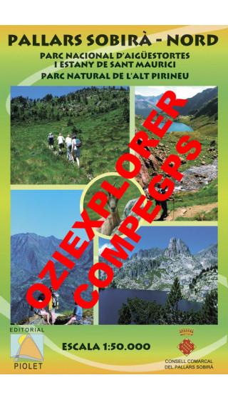Pallars Sobirà Nord. Parc Nacional d'Aigüestortes i Estany de Sant Maurici. Parc Natural de l'Alt Pirineu. Digital CompeGps/Ozie