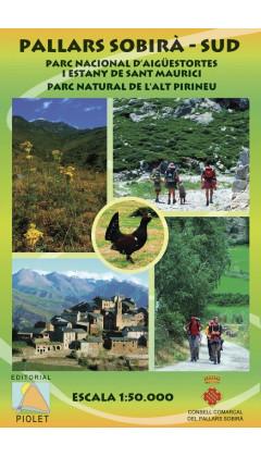 Mapa Pallars Sobirà Sud. Parc Nacional d'Aigüestortes i Estany de Sant Maurici. Parc Natural de l'Alt Pirineu 1:50.000 1a ed