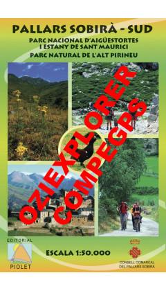 Pallars Sobirà Sud. Parc Nacional d'Aigüestortes i Estany de Sant Maurici. Parc Natural de l'Alt Pirineu. Digital CompeGps/Oziex