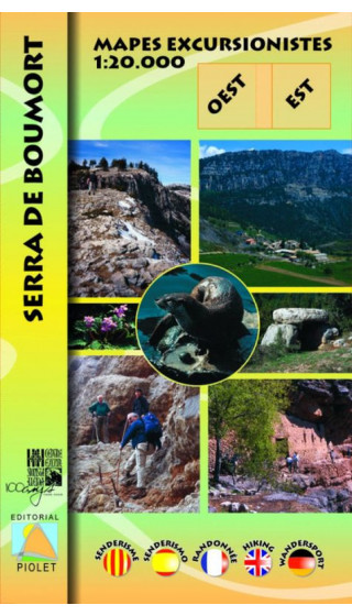 Mapa Serra de Boumort. Oest-Est 1:20.000 1a ed