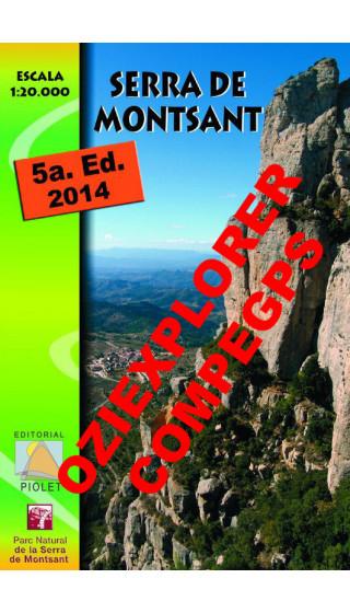 Serra de Montsant. Digital CompeGps/Oziexplorer 1:20.000 5a ed