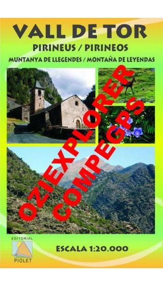 Vall de Tor. Pirineos. Montaña de leyendas. Digital CompeGps/Oziexplorer 1:20.000 1a ed