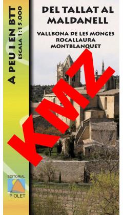 Del Tallat al Maldanell.Vallbona de les Monges. Rocallaura. Montblanquet. A peu i en BTT. Digital Kmz 1:15.000 1a ed