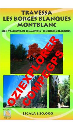 Travessa Les Borges Blanques-Montblanc. GR 3 Vallbona de les Monges-Les Borges Blanques. Digital CompeGps/Oziexplorer 1:30.000 1