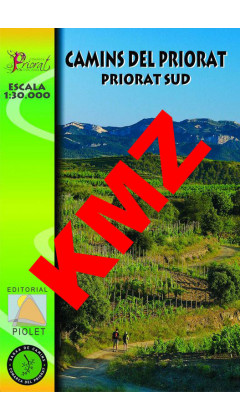Camins del Priorat Sud. Digital Kmz (Garmin, Google Earth) 1:30.000 1a ed