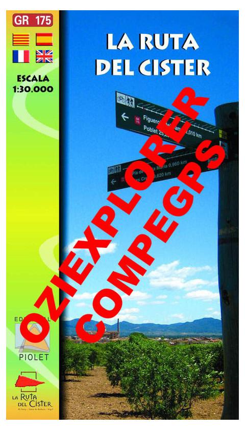 La Ruta del Cister. Digital CompeGps/Oziexplorer 1:30.000 1a ed