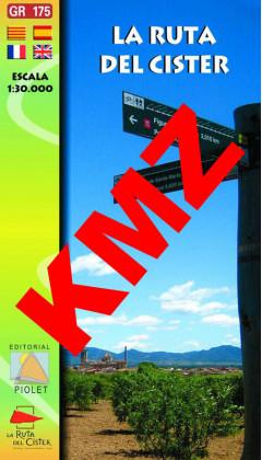 La Ruta del Cister. Digital Kmz (Garmin, Google Earht) 1:30.000 1a ed