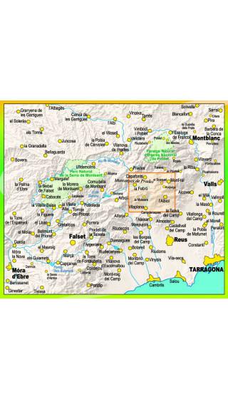 Cingles de la Mussara. Muntanyes de Prades sud. Digital CompeGps/Oziexplorer 1:15.000 2a ed