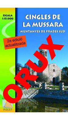 Cingles de la Mussara. Muntanyes de Prades sud. Digital OruxMaps 1:15.000 2a ed