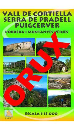 Vall de Cortiella. Serra de Pradell. Puigcerver. Porrera i muntanyes veïnes.Digital OruxMaps 1:15.000 1a ed