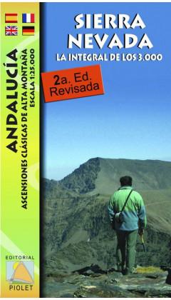 Mapa Sierra Nevada. La integral de los 3000. Andalucía. Ascensiones clásicas de alta montaña 1:25.000 2a ed