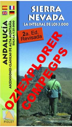 Sierra Nevada. La integral de los 3000. Andalucía. Ascensiones clásicas de alta montaña. Digital CompeGps/Oziexplorer 1:25.000 2