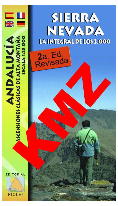 Sierra Nevada. La integral de los 3000. Andalucía. Ascensiones clásicas de alta montaña. Digital Kmz (Garmin, Google Earth) 1:25
