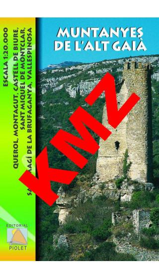 Muntanyes de l'Alt Gaià. Digital Digital Kmz (Garmin, Google Earth) 1:20.000 1a ed