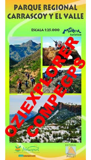 Parque Regional Carrascoy y el Valle. Digital CompeGps/Oziexplorer 1:25.000