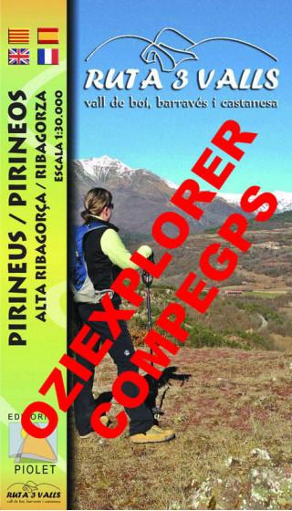 Ruta 3 Valls. Vall de Boí, Barravés i Castanesa. Pirineus. Alta Ribagorça. Digital CompeGps/Oziexplorer 1:30.000