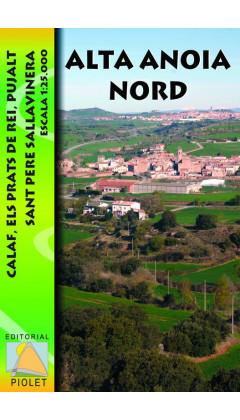 Mapa Alta Anoia Nord. Calaf, Els Prats de Rei, Pujalt, Sant Pere Sallavinera 1:25.000
