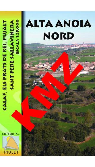 Alta Anoia Nord. Calaf, Els Prats de Rei, Pujalt, Sant Pere Sallavinera. Digital Kmz (Garmin, Google Earth) 1:25.000