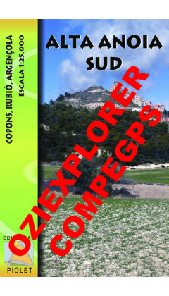 Alta Anoia Sud. Copons, Rubió, Argençola. Digital CompeGps/Oziexplorer 1:25.000